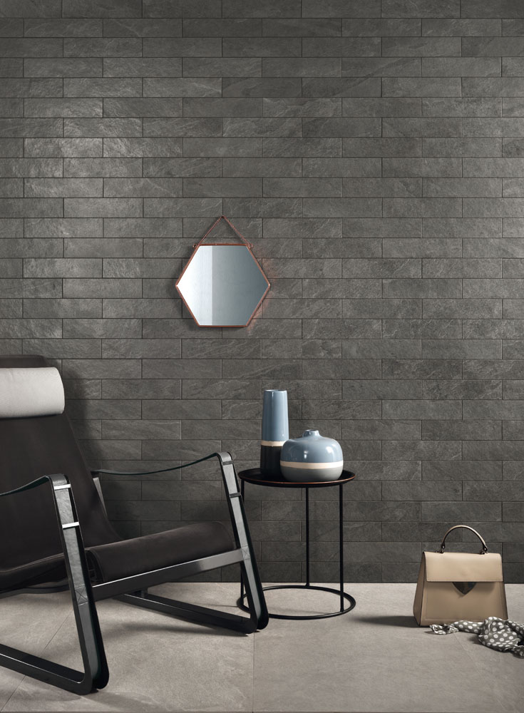 LEA - Waterfall - Waterfall Gray Flow Brick lapp 7,5x30